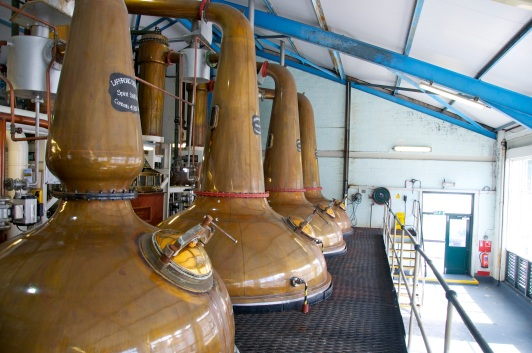 Laphroaig Single Malt Whisky Distillery Pot Stills Brennblasen