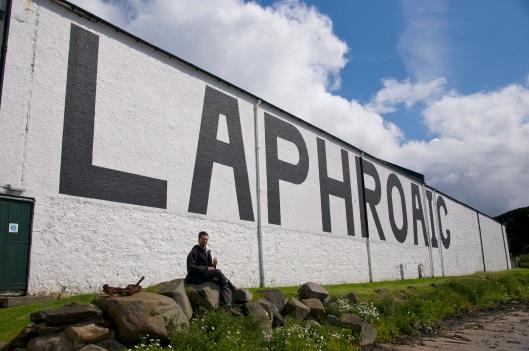 Laphroaig Single Malt Whisky Distillery Gebäude von außen