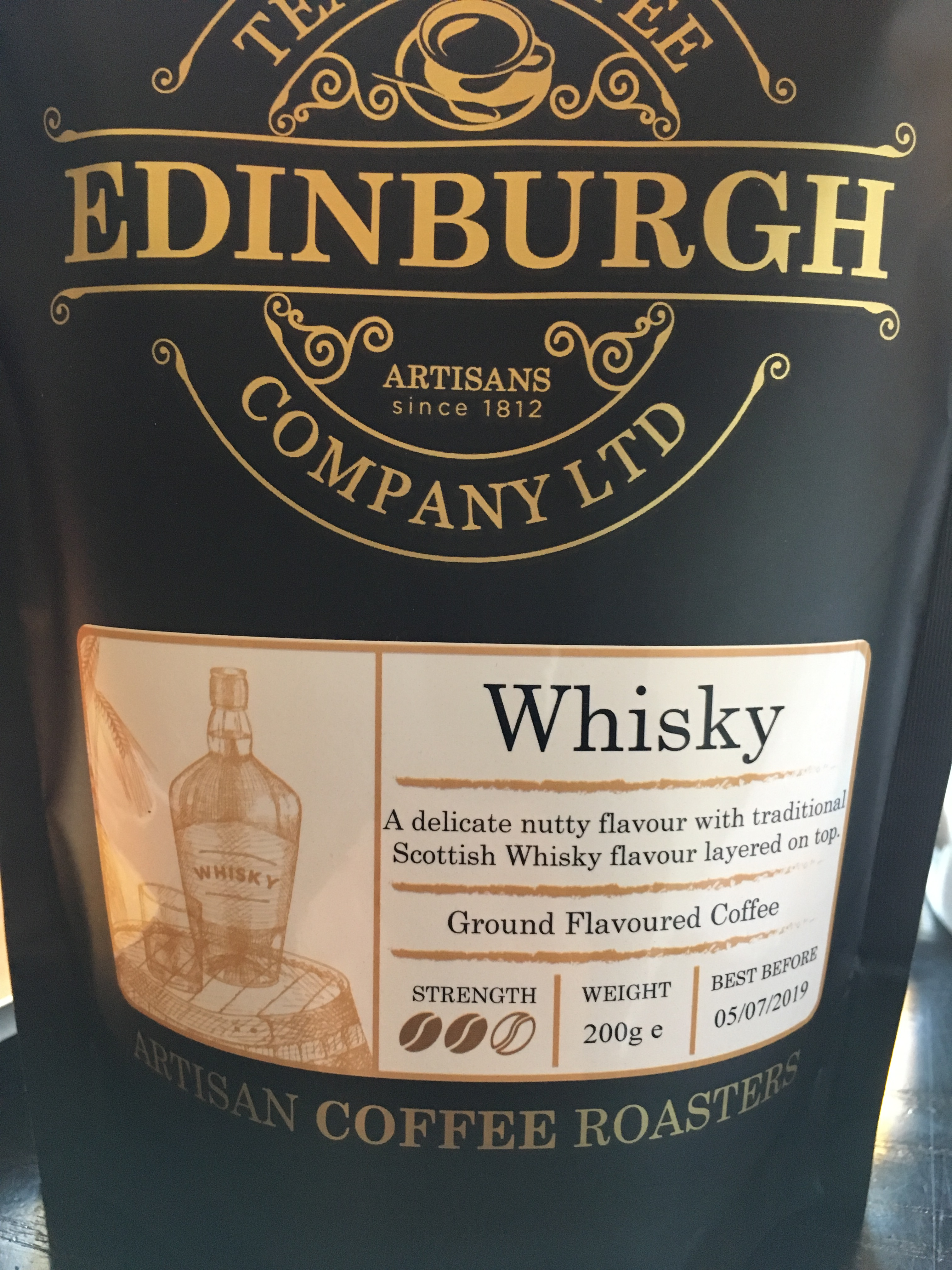 Single Malt Scotch Whisky Kaffe aus Edinburgh
