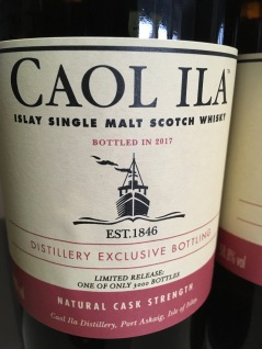 Caol Ila Single Malt Scotch Whisky Distillery Exclusive Flasche