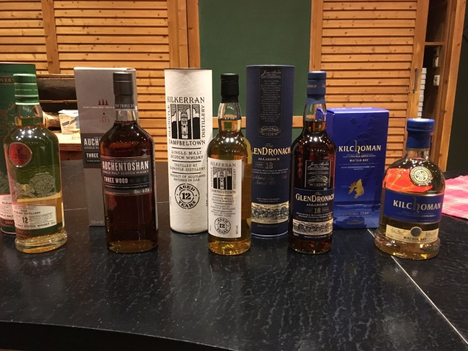 Auswahl Single Malt Scotch Whisky Tasting Malt Mariners im Golfhotel Gut Apeldör